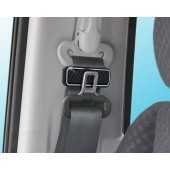 日本 SEIKO 汽車用碳纖銀邊安全帶夾