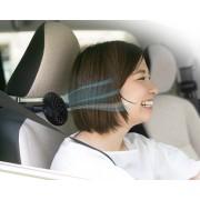 日本 SEIKO 汽車用USB頭枕椅背專用多角度可調較迷你雙風扇