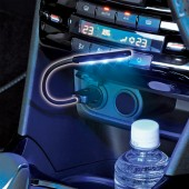 日本 SEIWA 汽車用USB多色7色LED照明燈裝飾燈氣氛燈房燈