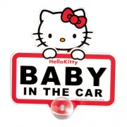 日本 SEIWA HELLO KITTY BABY IN THE CAR 車上有嬰兒