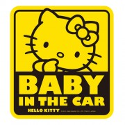 日本 SEIWA HELLO KITTY BABY IN CAR 車上有嬰兒 貼紙