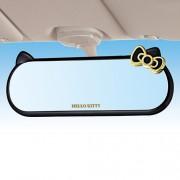 日本 SEIWA HELLO KITTY 汽車用黑金倒後鏡加闊鏡盲點鏡平面鏡