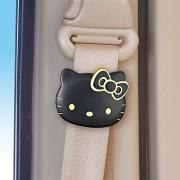 日本 SEIWA 汽車用 HELLO KITTY 黑金安全帶夾