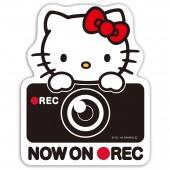 日本製 SEIWA 汽車用 HELLO KITTY REC 錄影中警示裝飾貼