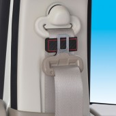 日本 SEIWA 汽車用磁石紅邊安全帶夾