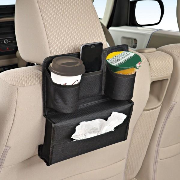 日本 SEIWA 汽車用多功能椅背雜物袋