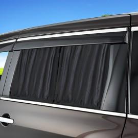 日本 SEIWA 汽車用防灑車窗簾布路軌黑色窗布 ( 1對裝 )