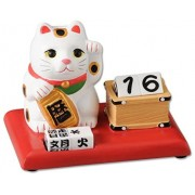 日本 招財貓 萬年曆 擺設 裝飾 骰仔
