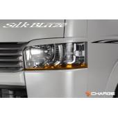 日本 SILKBLAZE 豐田 TOYOTA HIACE 200系 4型 車頭燈專用貼紙大燈貼紙 車燈貼紙 ( 橙色)