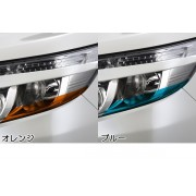 日本 SILKBLAZE 豐田 TOYOTA NOAH 80系 前期專用 車頭燈專用貼紙大燈貼紙 車燈貼紙 ( 橙色 / 藍色)
