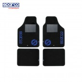 意大利 SPARCO 汽車用私家車用5座4座全車地膠地毯地墊( 藍黑色 )