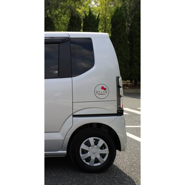 日本製 SANRIO HELLO KOTTY 汽車用車身貼紙玻璃貼紙油缸蓋貼紙