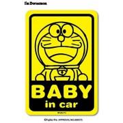 日本製 叮噹 DORAEMON BABY IN CAR 車上有嬰兒 汽車貼紙
