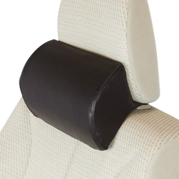 日本 TOMBOY 汽車用黑色皮質記憶棉頸枕