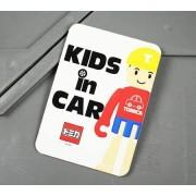日本製 TOMICA LOGO KIDS IN CAR 車上有小童 人仔汽車貼紙