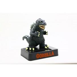 日本 哥斯拉 太陽能 Godzilla 搖頭公仔 模型 汽車家居擺設 裝飾