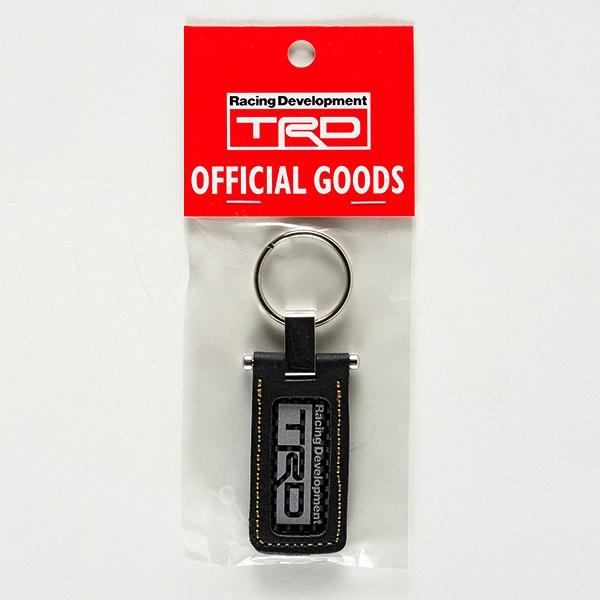 日本製 原廠 TRD 豐田汽車用碳纖紋車匙扣