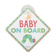 THE VERY HUNGRY CATERPILLAR 好餓的毛毛蟲 汽車用 BABY ON BOARD 車上有嬰兒 警示 吸塑吸盤 ( 白色 )