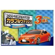 日本製 WAKO 洗車用三色海棉三件裝海綿實惠裝