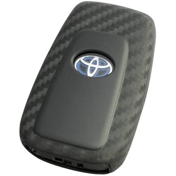 日本 YAC TOYOTA 豐田車汽車用專用碳纖紋車匙套保護套 C-HR RAV4 86 CROWN PRIUS 50