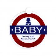 日本製 YAC 汽車用 BABY IN MY CAR 吸塑掛牌