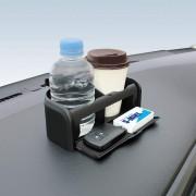 日本 YAC 汽車用儀表台專用雙杯架雜物架防滑墊