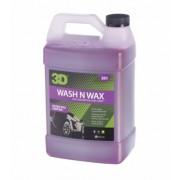 美國製 3D 洗車水蠟水 WASH AND WAX 1加侖 泡泡洗車蠟水