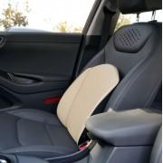 韓國製造 AUTO6AN 汽車用皮質米色黑色腰墊腰枕護腰
