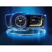HUD ACTISAFETY 雷神 A600 OBD2 汽車用抬頭顯示器車速轉數水溫電壓 ( 繁體版 )