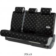 日本 BONFORM 汽車用後座三座防水防污墊寵物墊椅套後掛乘客位 (星星款)