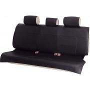 日本 BONFORM 汽車用後排後座三座防污墊皮質座椅套