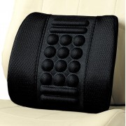 日本 BONFORM 汽車用透氣舒適按摩背枕腰枕腰墊