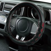 日本 BONFORM 汽車用3D立體防滑波浪軚盤套軚環套 ( 紅 / 藍可選 )