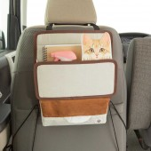 日本 BONFORM  汽車用 貓仔 家貓 小貓 多功能多用途椅背收納袋紙巾袋雜物袋