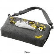 日本 BONFORM MINION 小黃人 汽車用座椅背紙巾袋紙巾盒紙巾收納