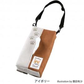 日本 BONFORM 汽車用 貓仔 家貓 小貓 椅背紙巾袋