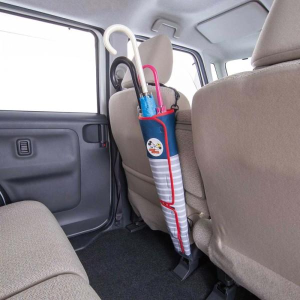 日本 BONFORM 米奇老鼠 MICKEY MOUSE 米尼 汽車用椅背雨傘袋收納袋