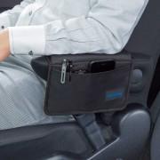 日本 BONFORM 汽車用多功能坐椅座椅邊扶手收納袋雜物袋