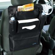 日本 BONFORM 汽車用座椅背多功能多用途收納袋紙巾袋飲品袋
