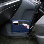日本 BONFORM 藍色皮質雜袋多功能多用途收納袋咭片套
