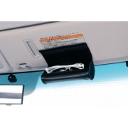 日本 CARAMTE 汽車用車內太陽擋板專用皮質太陽眼鏡收納袋眼鏡盒