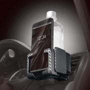 日本 CARMATE 汽車用碳纖紋出風口杯架手機座