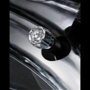 日本 CARMATE 汽車用閃石銀色電鍍胎咀胎氣咀 SWAROVSKI