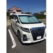 日本 CRETOM 汽車用ALPHARD / VELLFIRE 30系擋風玻璃隔熱擋太陽擋遮陽擋