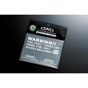 日本 DAD 汽車用WARNING!!柴油車入油警告性貼紙