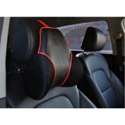 韓國 FOURING  汽車用紅黑三角超舒適記憶棉頸枕