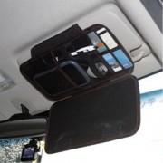 日本 HAESEPRO 汽車用車內碳纖紋太陽擋板收納袋雜物袋咭片套