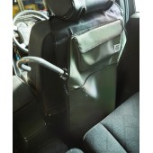日本 JKM 汽車用椅背雨傘袋防污墊防踢墊 ( 可放5把雨傘 ) 藍色 綠色可選
