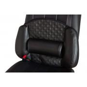 日本 TOHPO 汽車用皮質格仔功能性腰墊腰枕