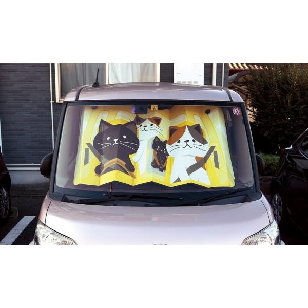 日本 可愛 小貓 貓仔 貓咪 家貓 汽車用擋風玻璃隔熱擋太陽擋遮陽擋